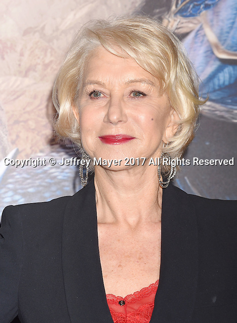 HOLLYWOOD, CA - FEBRUARY 15: Actress Helen Mirren arrives at the premiere of Universal Pictures' 'The Great Wall' at TCL Chinese Theatre IMAX on February 15, 2017 in Hollywood, California.