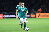 27th March 2018, Olympiastadion, Berlin, Germany; International Football Friendly, Germany versus Brazil; Joshua Kimmich (Germany) in action