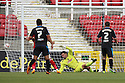 Steve Arnold of Stevenage is beaten by Massimo Luongo of Swindon's shot (out of picture)<br />  Swindon Town v Stevenage - Sky Bet League One- The County Ground, Swindon - 10th August 2013<br /> © Kevin Coleman 2013