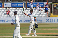 Ryan ten Doeschate acknowledges the crowd after reaching his century during Essex CCC vs Somerset CCC, Specsavers County Championship Division 1 Cricket at The Cloudfm County Ground on 26th June 2018