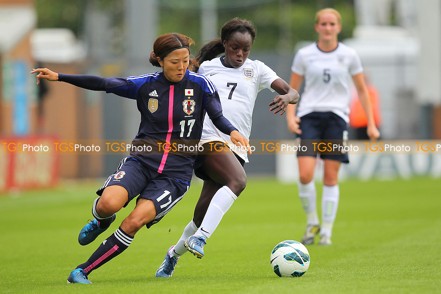 Eniola Aluko in action for England - England Women vs Japan Women - Friendly Football International at the Pirelli Stadium, Burton Albion FC - 26/06/13 - MANDATORY CREDIT: Gavin Ellis/TGSPHOTO - Self billing applies where appropriate - 0845 094 6026 - contact@tgsphoto.co.uk - NO UNPAID USE