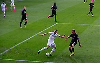 Leeds United's Stuart Dallas takes on Charlton Athletic's Aidan McGeady<br /> <br /> Photographer Alex Dodd/CameraSport<br /> <br /> The EFL Sky Bet Championship - Leeds United v Charlton Athletic - Wednesday July 22nd 2020 - Elland Road - Leeds <br /> <br /> World Copyright © 2020 CameraSport. All rights reserved. 43 Linden Ave. Countesthorpe. Leicester. England. LE8 5PG - Tel: +44 (0) 116 277 4147 - admin@camerasport.com - www.camerasport.com