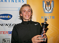 01-12-13,Netherlands, Almere,  National Tennis Center, Tennis, Winter Youth Circuit, Boys 16 years , 6th place : Thorsten Sollie<br /> Photo: Henk Koster