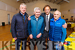 Tommy Doyle been honoured at the Camp Community Centre on Sunday evening stands with Sean Walsh, Micko Dwyer and Liam Sayers.