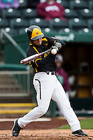 Parker Zimmerman #35 of the Wichita State Shockers swings at a pitch during a game against the Missouri State Bears at Hammons Field on May 4, 2013 in Springfield, Missouri. (David Welker/Four Seam Images)