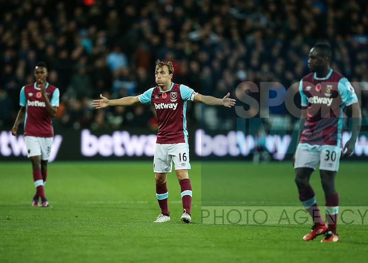 West Ham's Mark Noble in action during the Premier League match at the London Stadium, London. Picture date November 5th, 2016 Pic David Klein/Sportimage