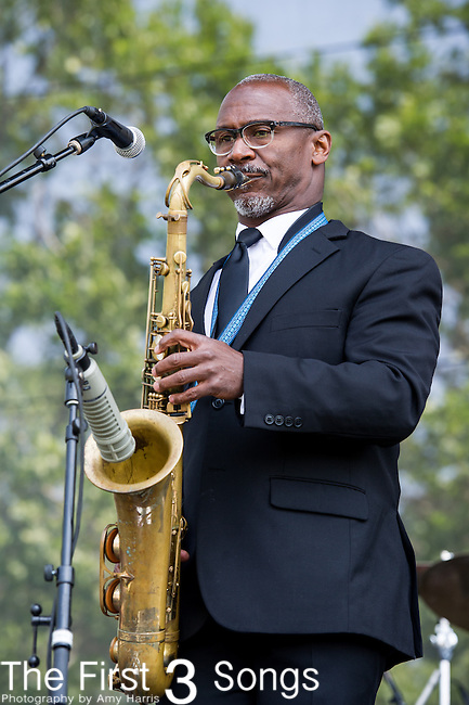 Karl Denson of Karl Denson's Tiny Universe performs at the 2nd Annual BottleRock Napa Festival at Napa Valley Expo in Napa, California.