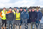 HOPING: Hoping that the Ballyheigue Races will take place on Sunday were members of the Ballyheigue Races Committee on a wet and windy Sunday, Front l-r: Paul Dineen, JP Corridan, Tom Lawlor, Mike Kenny Back l-r  Tom Roche, Christy O'Mahony, Brendan O'Carroll and Mike Hanlon...