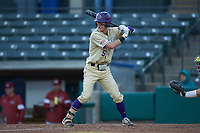 Will Prater (5) of the Western Carolina Catamounts at bat against the Saint Joseph's Hawks at TicketReturn.com Field at Pelicans Ballpark on February 23, 2020 in Myrtle Beach, South Carolina. The Hawks defeated the Catamounts 9-2. (Brian Westerholt/Four Seam Images)