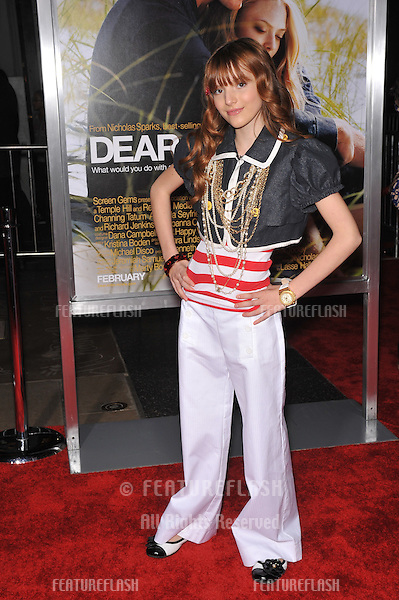 "Bella Thorne at the world premiere of ""Dear John"" at Grauman's Chinese Theatre, Hollywood..February 1, 2010  Los Angeles, CA.Picture: Paul Smith / Featureflash"