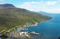 Eskifjörður séð til austurs, Fjarðabyggð /..Eskifjordur viewing east, Fjardabyggd.
