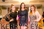 At the Gaelcholáiste Chiarraí TY Fashion Show at the Rose Hotel on Tuesday were  Caoimhe Ni Mhordha, Caitlin Nic Giollagunna and Muireann Ni Dhuilleain