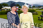 Mary O'Neill and Eileen O'Mahony from Killarney  looking glamorous for Ladies Day at the Killarney Races.  on Thursday