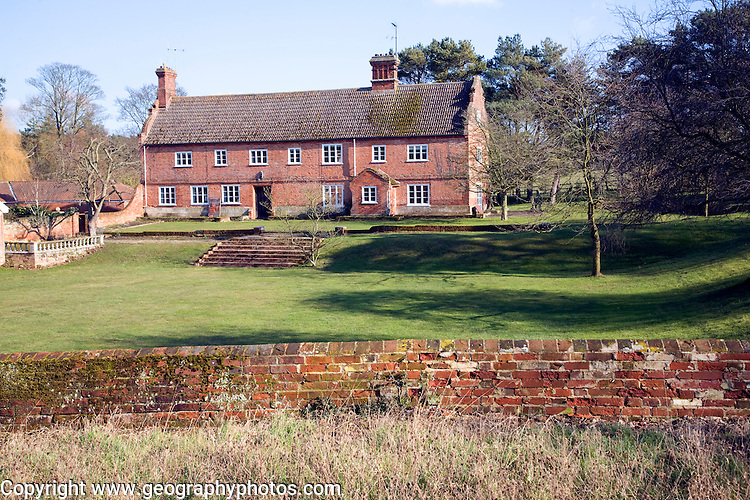 Traditional long farmhouse building, Sudbourne, Suffolk, England
