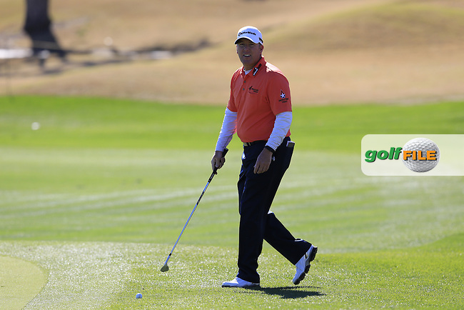 D.A. Points (USA) on the 18th green during Saturday's Round 3 of the 2017 CareerBuilder Challenge held at PGA West, La Quinta, Palm Springs, California, USA.<br /> 21st January 2017.<br /> Picture: Eoin Clarke | Golffile<br /> <br /> <br /> All photos usage must carry mandatory copyright credit (&copy; Golffile | Eoin Clarke)