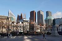Nederland - Den Haag-  2018.   Skyline van Den Haag. Het Plein. Berlinda van Dam / Hollandse Hoogte