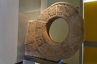 Mayan ballcourt marker from Oxkintok in the Gran Museo del Mundo Maya in Merida, Yucatan, Mexico