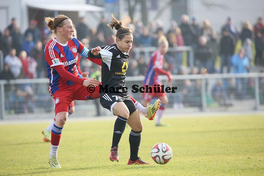 Melanie Behringer (Bayern) gegen Veronica Boquete (FFC) - 1. FFC Frankfurt vs. FC Bayern Muenchen, Stadion am Brentanobad