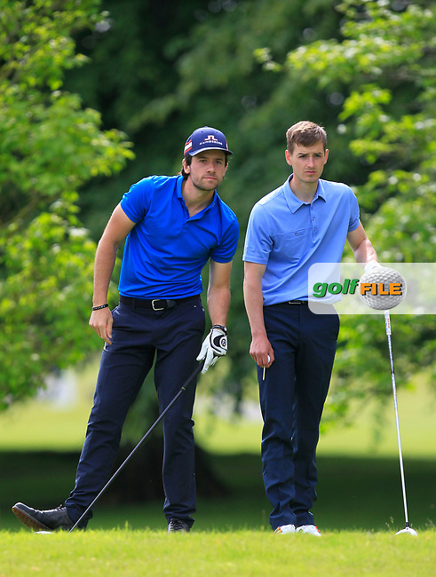 Carlo Ciullo (Hull GC) and Jamie Carney (Kings Norton GC) on the 2nd tee during Round 2 of the Titleist &amp; Footjoy PGA Professional Championship at Luttrellstown Castle Golf &amp; Country Club on Wednesday 14th June 2017.<br /> Photo: Golffile / Thos Caffrey.<br /> <br /> All photo usage must carry mandatory copyright credit     (&copy; Golffile | Thos Caffrey)