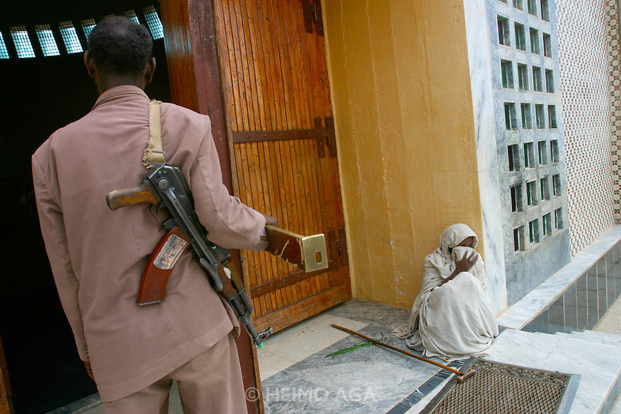 AXUM, TIGRAY/ETHIOPIA..Guard with AK-47 at the New Church of St. Mary of Zion..(Photo by Heimo Aga)