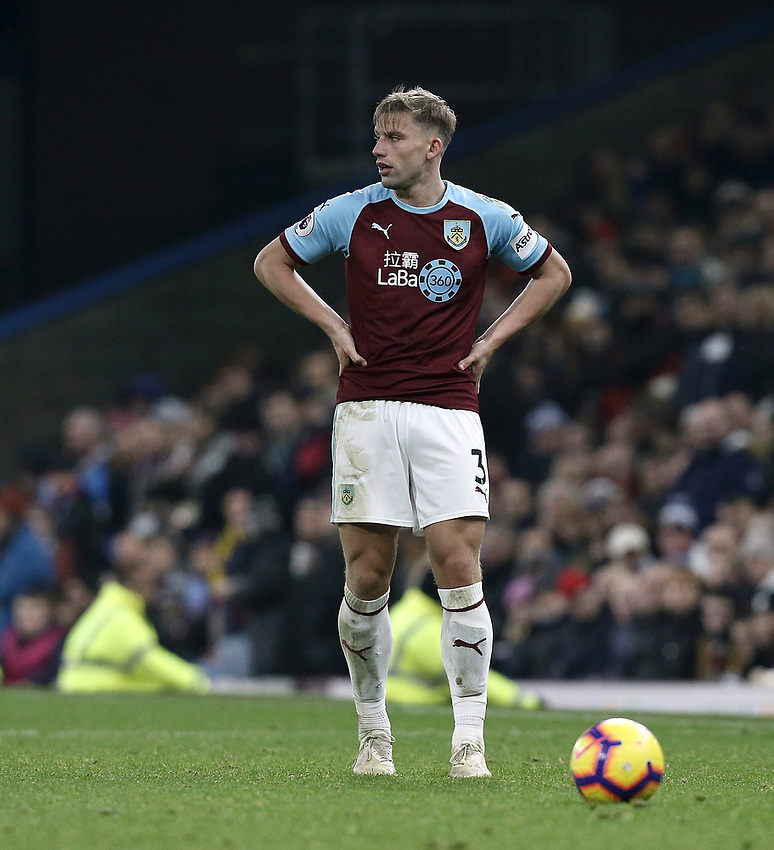 Burnley's Charlie Taylor<br /> <br /> Photographer Rich Linley/CameraSport<br /> <br /> The Premier League - Burnley v Everton - Wednesday 26th December 2018 - Turf Moor - Burnley<br /> <br /> World Copyright © 2018 CameraSport. All rights reserved. 43 Linden Ave. Countesthorpe. Leicester. England. LE8 5PG - Tel: +44 (0) 116 277 4147 - admin@camerasport.com - www.camerasport.com