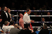 2nd February 2019 The O2 Arena, London, England; Boxing, European Super-Welterweight Championship, Sergio Garcia versus Ted Cheeseman; A dejected Ted Cheeseman as he hears he lost unanimously on the score cards against Sergio Garcia
