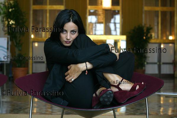 Venice, 31 Agosto 2002.Mostra Internazionale  d'Arte Cinematografica di Venezia, Venice International Film Festival, Alessia Barela