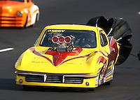 Jul. 19, 2014; Morrison, CO, USA; NHRA top sportsman driver XXXX during qualifying for the Mile High Nationals at Bandimere Speedway. Mandatory Credit: Mark J. Rebilas-