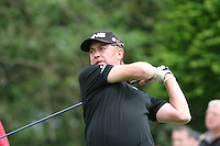 Miguel Angel Jimenez tees off on the 1st hole during the final round of the 2008 BMW PGA Championship at Wentworth Club, Surrey, England 25th May 2008 (Photo by Eoin Clarke/GOLFFILE)