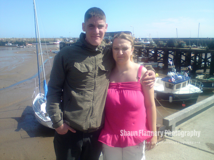 Pix: Shaun Flannery/shaunflanneryphotography.com...COLLECT PICTURE>>SHAUN FLANNERY>01302-570814>>07778315553>>..27th January 2011...........Love Tangle Gun Drama..Rebecca Kaye pictured with jailed Doncaster thug, Frederick Kaye during happier times in Bridlington..Story: Martyn Sharpe