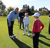 "Colin Montgomerie meets Gleneagles ""DreamTeam"" of Junior Golfers who have been selected to take part in the The Gleneagles Foundation inaugural 12 month scholarship programme  : Picture Stuart Adams, www.golftourimages.com: 19/09/2015"