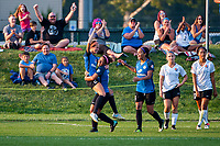 Kansas City, MO - Wednesday August 16, 2017: Shea Groom, Sydney Leroux Dwyer during a regular season National Women's Soccer League (NWSL) match between FC Kansas City and Sky Blue FC at Children's Mercy Victory Field.