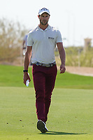 Thomas Detry (BEL) on the 9th during Round 4 of the Saudi International at the Royal Greens Golf and Country Club, King Abdullah Economic City, Saudi Arabia. 02/02/2020<br /> Picture: Golffile | Thos Caffrey<br /> <br /> <br /> All photo usage must carry mandatory copyright credit (© Golffile | Thos Caffrey)