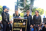 LOS ANGELES - OCT 30: Perry Farrell, Dave Navarro, Taylor Hawkins, Stephen Perkins, Chris Chaney at a ceremony where 'Jane's Addiction' was honored with a star on the Hollywood Walk of Fame on October 30, 2013 in Los Angeles, California