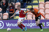 Kyle Dempsey of Fleetwood Town and Harry Taylor of Barnet during Barnet vs Fleetwood Town, Emirates FA Cup Football at the Hive Stadium on 10th November 2019