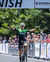 Stage One winner Aaron Gate (EvoPro Racing). Stage One - Lost Lake Loop (Cambridge - Kaipaki - Roto O Rangi - Leamington). 2019 Grassroots Trust NZ Cycle Classic UCI 2.2 Tour from St Peter's School in Cambridge, New Zealand on Wednesday, 23 January 2019. Photo: Dave Lintott / lintottphoto.co.nz