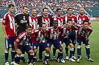 CARSON, CA – June 18, 2011: Chivas USA starting line-up for the match between Chivas USA and FC Dallas at the Home Depot Center in Carson, California. Final score Chivas USA 1, FC Dallas 2.