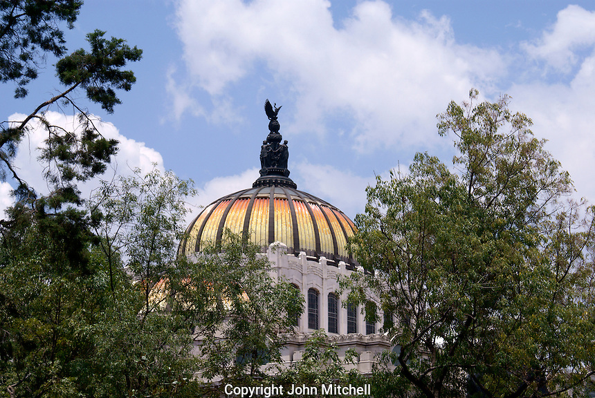 Dome of the Palacio de Bellas Artes or Fine Arts Palace in Mexico City
