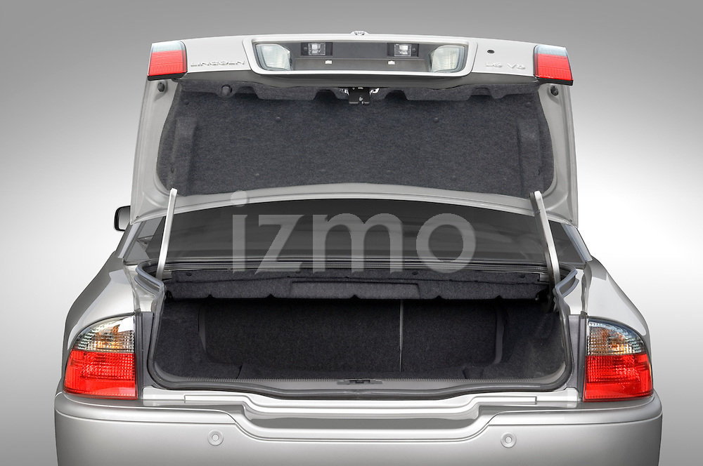 Open trunk view of a 2006 Lincoln LS Luxury Sedan V8
