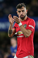 Bruno Fernandes of Manchester United urges his team on during Chelsea vs Manchester United, Premier League Football at Stamford Bridge on 17th February 2020