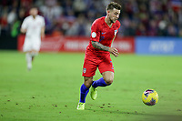 ORLANDO, FL - NOVEMBER 15: Paul Arriola #7 of the United States moves with the ball during a game between Canada and USMNT at Exploria Stadium on November 15, 2019 in Orlando, Florida.