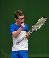 Almere, Netherlands, December 6, 2015, Winter Youth Circuit, Jip Mens (NED)<br /> Photo: Tennisimages/Henk Koster