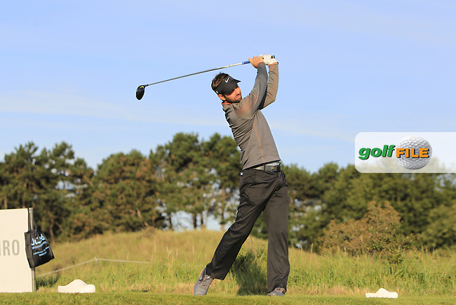 Scott Jamieson (SCO) on the 2nd tee during Round 1 of the 2015 KLM Open at the Kennemer Golf &amp; Country Club in The Netherlands on 10/09/15.<br /> Picture: Thos Caffrey | Golffile