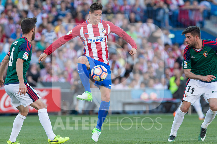 Fernando Torres of Atletico de Madrid during the match of La Liga between  Atletico de Madrid and Club Atletico Osasuna at Vicente Calderon  Stadium  in Madrid, Spain. April 15, 2017. (ALTERPHOTOS / Rodrigo Jimenez)