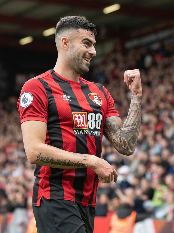 Bournemouth's Diego Rico<br /> <br /> Photographer David Horton/CameraSport<br /> <br /> The Premier League - Bournemouth v West Ham United - Saturday 28th September 2019 - Vitality Stadium - Bournemouth<br /> <br /> World Copyright © 2019 CameraSport. All rights reserved. 43 Linden Ave. Countesthorpe. Leicester. England. LE8 5PG - Tel: +44 (0) 116 277 4147 - admin@camerasport.com - www.camerasport.com