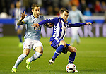 Deportivo Alaves' Ibai Gomez (r) and Celta de Vigo's Hugo Mallo during Spanish Kings Cup semifinal 2nd leg match. February 08,2017. (ALTERPHOTOS/Acero)