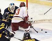 Joe Cannata (Merrimack - 35), Johnny Gaudreau (BC - 13) - The Boston College Eagles defeated the Merrimack College Warriors 4-2 to give Head Coach Jerry York his 900th collegiate win on Friday, February 17, 2012, at Kelley Rink at Conte Forum in Chestnut Hill, Massachusetts.