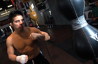 AJ Alexander - Olympic Gold Medalist Henry Cejundo is training in boxing as part of his Mix Martial Arts venture as a pro fighter..Photo by AJ Alexander