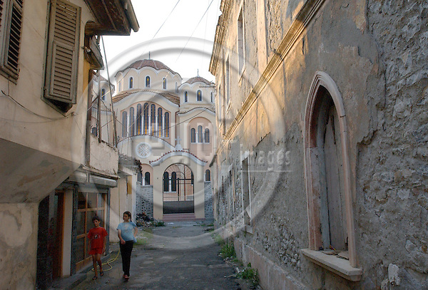 Shkodra/Shkoder-Albania - August 05, 2004---The Orthodox Church, seen from the Museum Street, in the city of Shkodra; culture-religion---Photo: Horst Wagner/eup-images