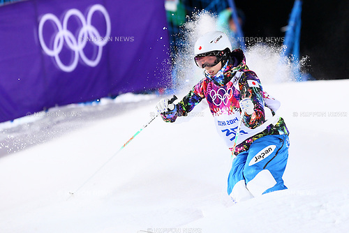 Miki Ito (JPN), <br /> FEBRUARY 5, 2014 - Freestyle Skiing : <br /> Women's Moguls training session <br /> at &quot;ROSA KHUTOR&quot; Extreme Park <br /> during the Sochi 2014 Olympic Winter Games in Sochi, Russia. <br /> (Photo by Yohei Osada/AFLO SPORT)